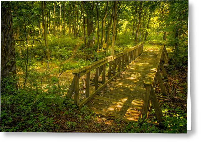 Seven Ponds Nature Center Water Fowl Refuge Bridge Greeting Card by LeeAnn McLaneGoetz McLaneGoetzStudioLLCcom