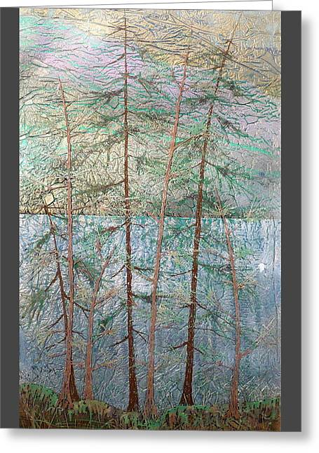 Mystical Landscape Glass Greeting Cards - Seven  Greeting Card by Rick Silas