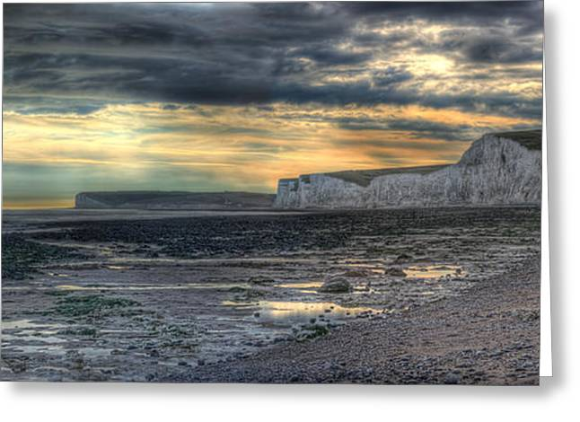Seven Sisters - Panorama Greeting Card by Ann Garrett