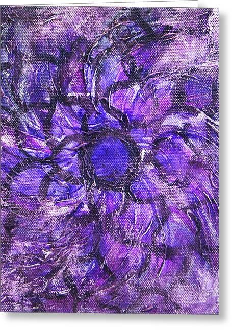 Crown Chakra Greeting Cards - Seventh Chakra Greeting Card by Mary Haas