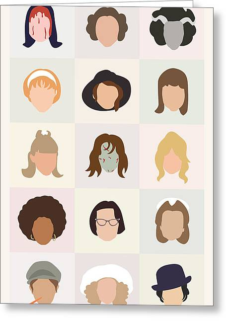 Theater Greeting Cards - Seventies Movie Chicks Greeting Card by Mitch Frey
