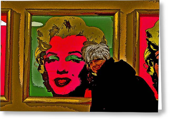 Prague Castle Digital Greeting Cards - Severe Ordeals. Selfie With Marilyn Monroe. Greeting Card by Andy Za