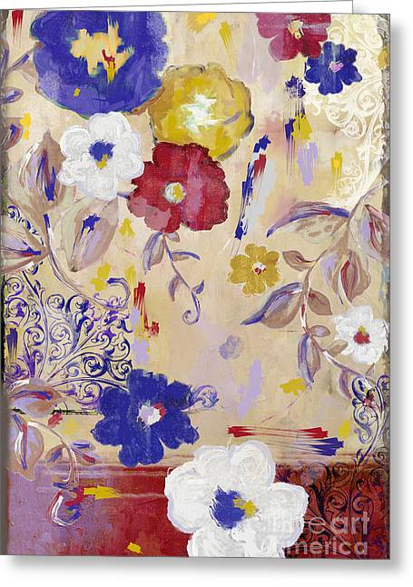 Painted Flowers Greeting Cards - Sevilla I Greeting Card by Mindy Sommers