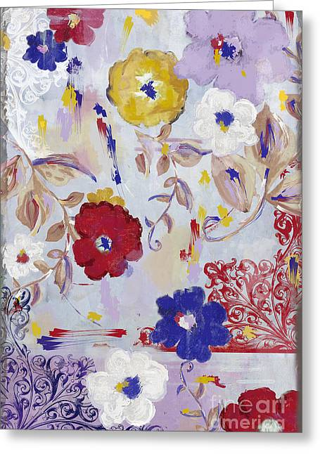 Painted Flowers Greeting Cards - Sevilla II Greeting Card by Mindy Sommers