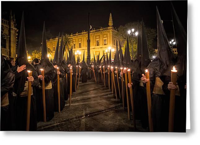 Religious Greeting Cards - Sevilla Santa Greeting Card by Fegari