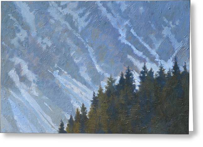 Seward Mountain Greeting Card by Robert Bissett