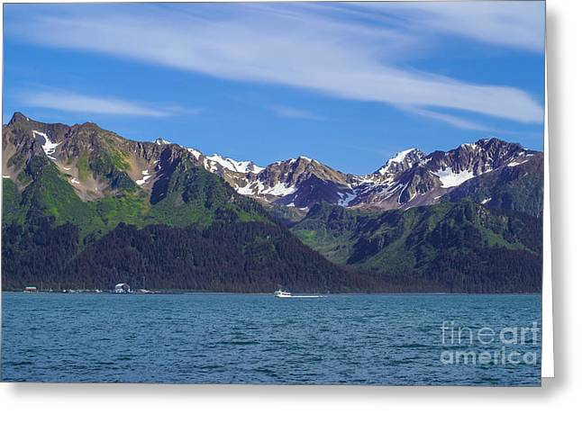 Pacific Ocean Prints Greeting Cards - Seward Mountains Greeting Card by Jennifer White