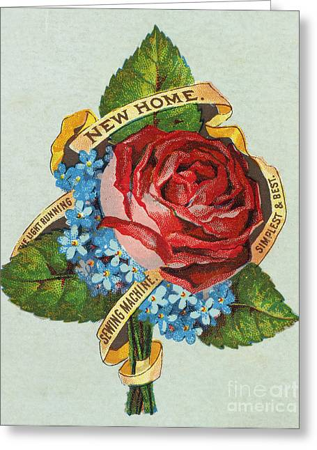 Trade Card Greeting Cards - SEWING TRADE CARD, c1880 Greeting Card by Granger