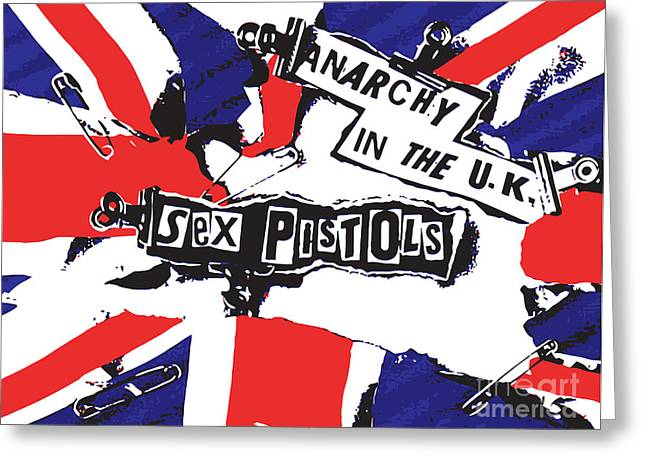 Player Digital Greeting Cards - Sex Pistols No.02 Greeting Card by Caio Caldas