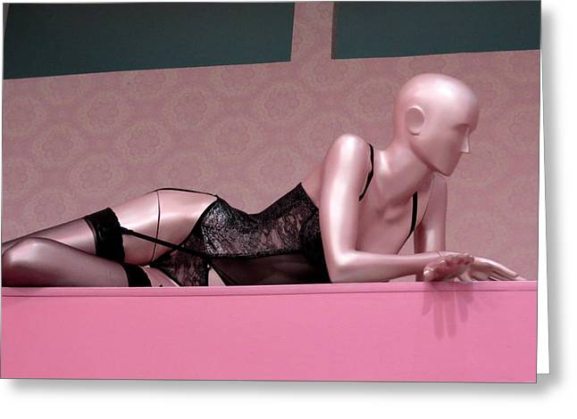Dressmakers Model Greeting Cards - Sexi Pink Mannequin Greeting Card by Daniel Gomez