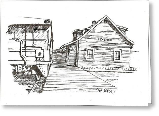 Sexsmith Train Station Greeting Card by Rick Stoesz
