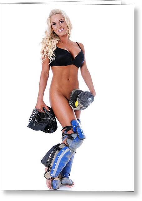 Girls Softball Greeting Cards - Sexy Ball Player Greeting Card by Jt PhotoDesign
