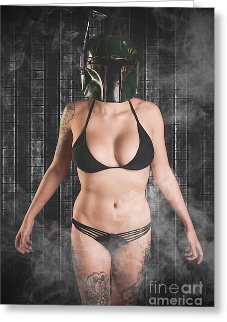 Cosplay Photographs Greeting Cards - Sexy Fett Greeting Card by Jt PhotoDesign