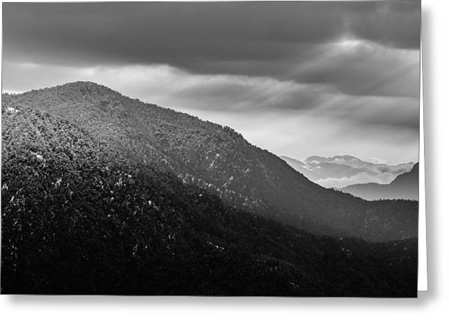 Winter Storm Greeting Cards - Sexy Mountains Greeting Card by V Naveen  Kumar
