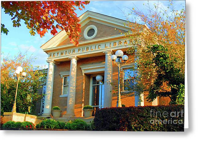 Seymour Public Library Greeting Card by Jost Houk