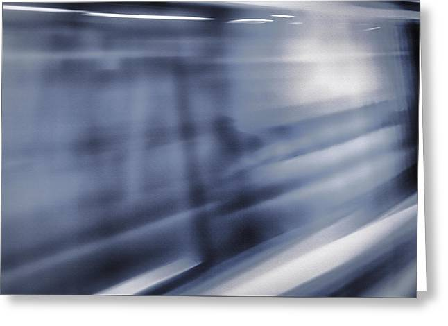 Downtown San Francisco Mixed Media Greeting Cards - San Francisco Subway 3 - Blue Dream Greeting Card by Steve Ohlsen
