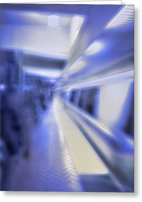 Downtown San Francisco Mixed Media Greeting Cards - San Francisco Subway 4 - Blue Dream Greeting Card by Steve Ohlsen