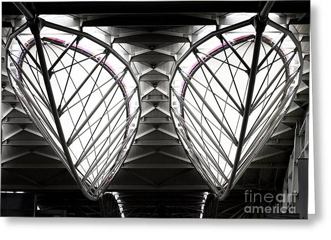 Sfo Greeting Cards - SFO Abstract 1 Greeting Card by Wingsdomain Art and Photography