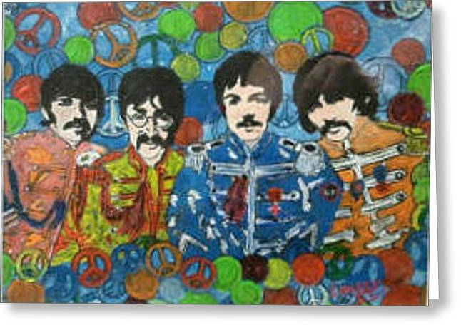 Sgt Pepper Greeting Card by John Lavery