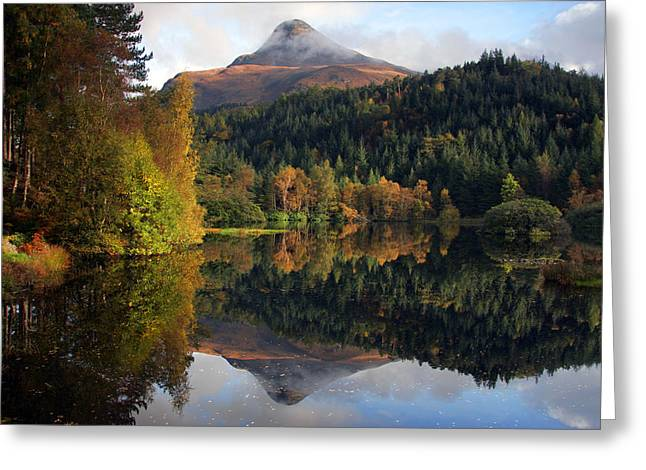 Lochan Greeting Cards - Sgurr na Ciche the Pap of Glencoe Greeting Card by John McKinlay