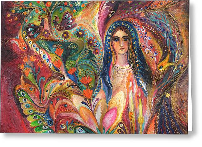 Shabbat Queen Greeting Card by Elena Kotliarker