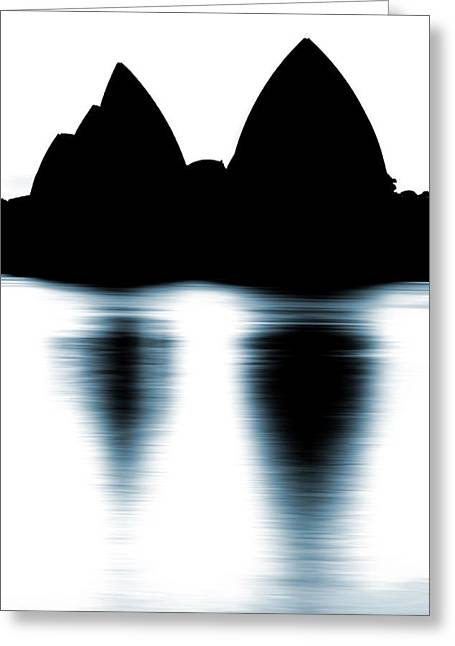 Shaded Peaks  Greeting Card by Az Jackson