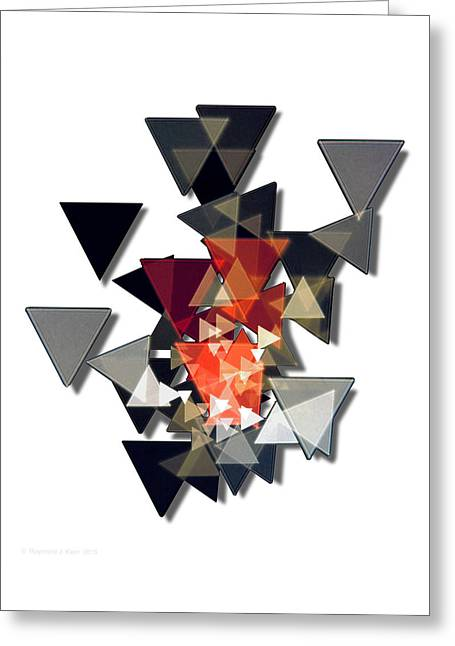 Transparency Geometric Greeting Cards - Shaded Scintillation Greeting Card by Raymond Klein