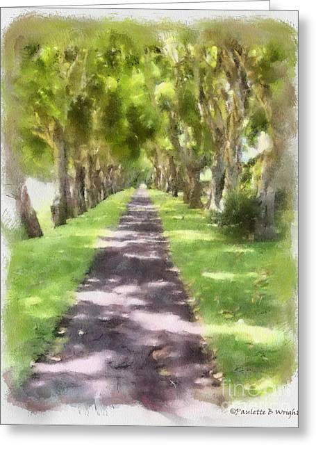 Best Sellers -  - Daughter Gift Greeting Cards - Shaded Walkway To Princeville Market Greeting Card by Paulette B Wright