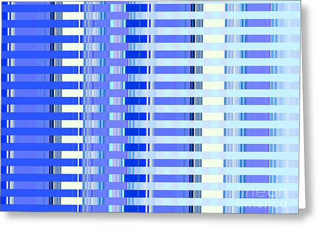 Abstract Style Greeting Cards - Shades of Blue Highrise Greeting Card by Ann Johndro-Collins