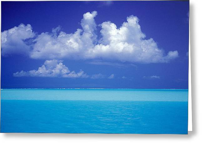 Shades Of Blue Greeting Card by Ron Dahlquist - Printscapes