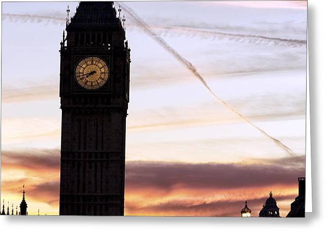Shades of London Greeting Card by John Rizzuto