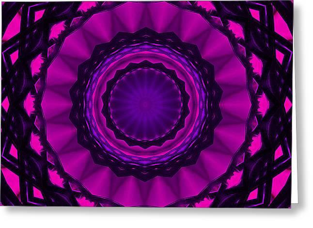 Shades Of Pink Mandala Greeting Card by Cindi Ressler