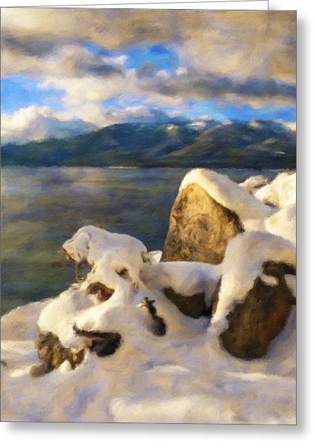 Winter Storm Greeting Cards - Shadow And Snow Greeting Card by Jonathan Nguyen