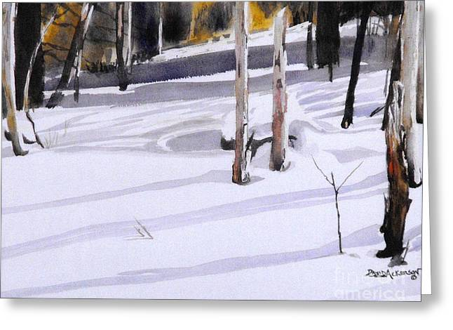 Nature Scene Paintings Greeting Cards - Shadow Dancing Greeting Card by David Ackerson