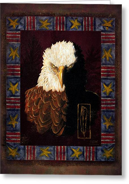 Joe Low Greeting Cards - Shadow Eagle Greeting Card by JQ Licensing