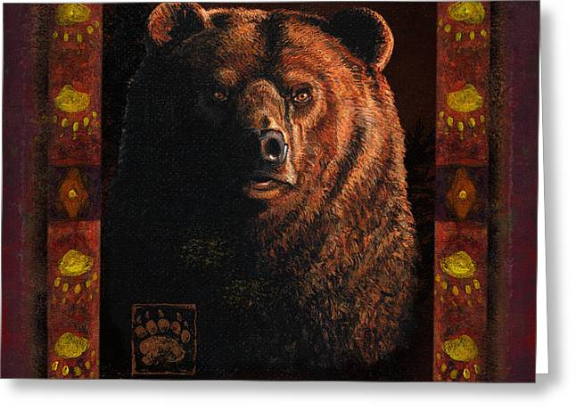 Shadow Grizzly Greeting Card by JQ Licensing