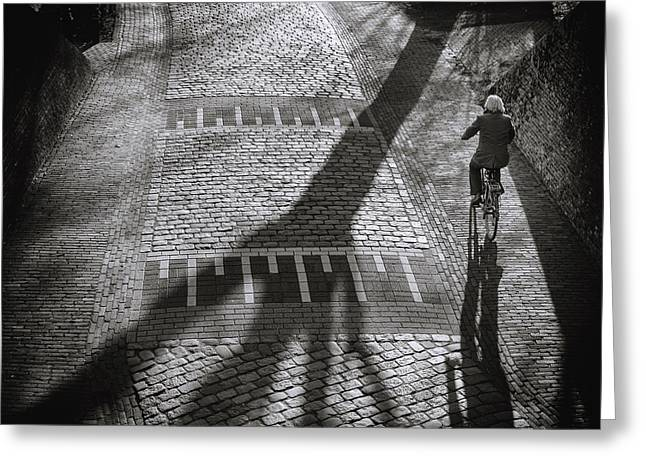 Stones Photographs Greeting Cards - Shadow Greeting Card by Henk Van Maastricht