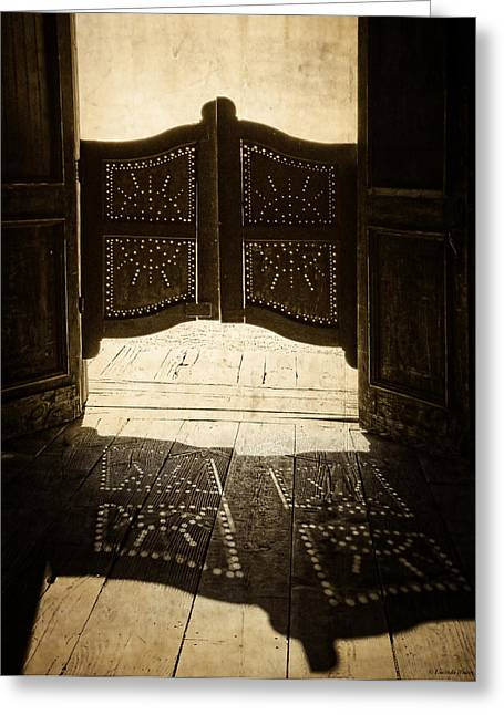 Saloons Greeting Cards - Shadow Magic Greeting Card by Lucinda Walter