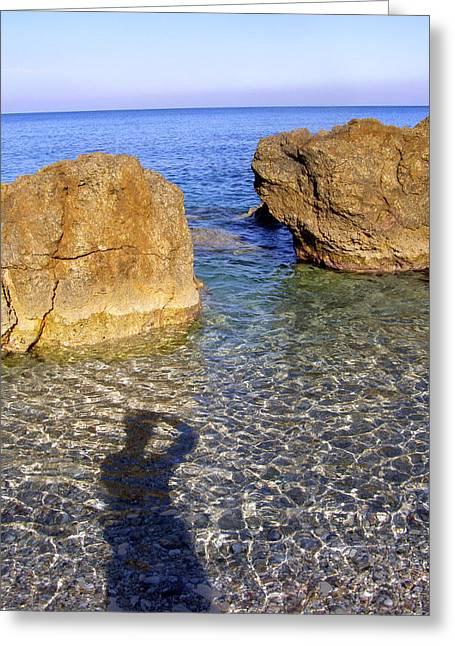 Pelion Greeting Cards - Shadow Pelion Greece Greeting Card by Christina Knapp