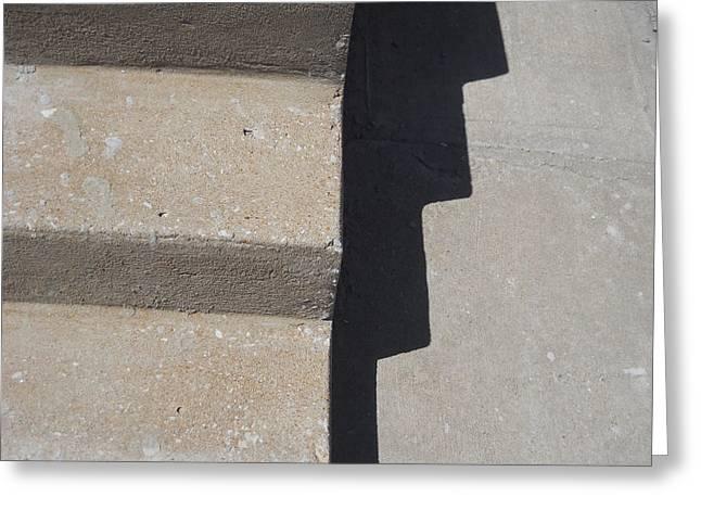 Stepping Stones Greeting Cards - Shadow Steps Greeting Card by Jim Ramirez