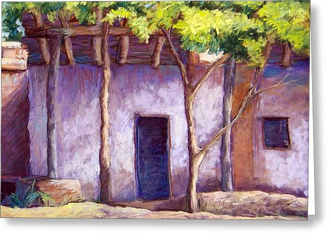Adobe Pastels Greeting Cards - Shadowed Ruins Greeting Card by Candy Mayer