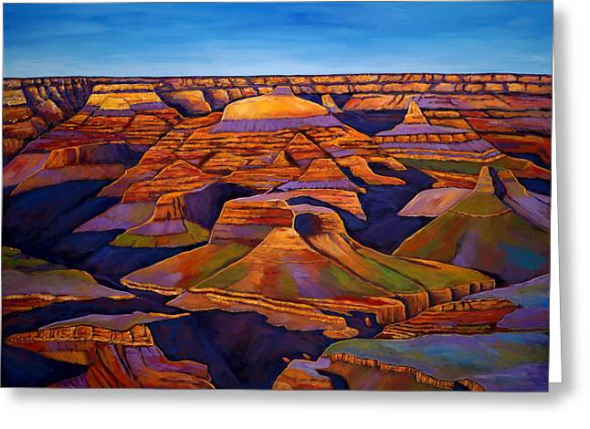 North Rim Greeting Cards - Shadows and Breezes Greeting Card by Johnathan Harris