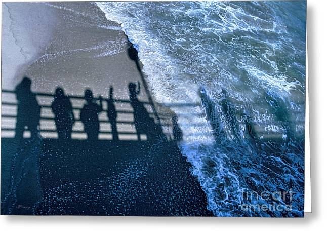 California Beaches Greeting Cards - Shadows Day Off Greeting Card by Jennie Breeze