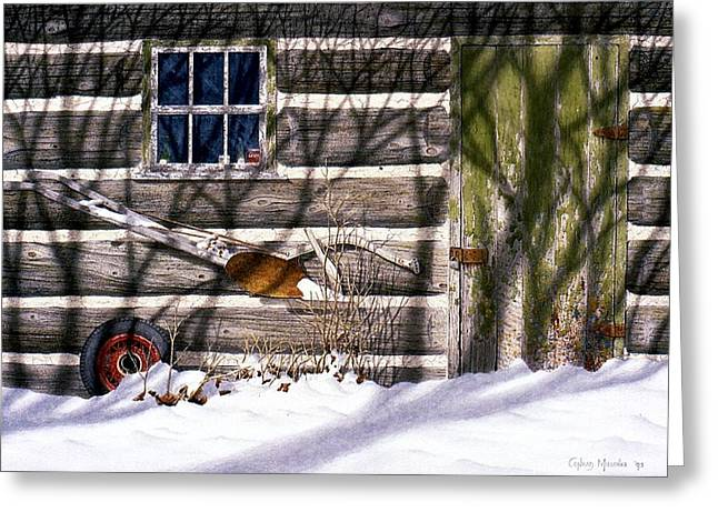 Cards Greeting Cards - Shadows in December Greeting Card by Conrad Mieschke
