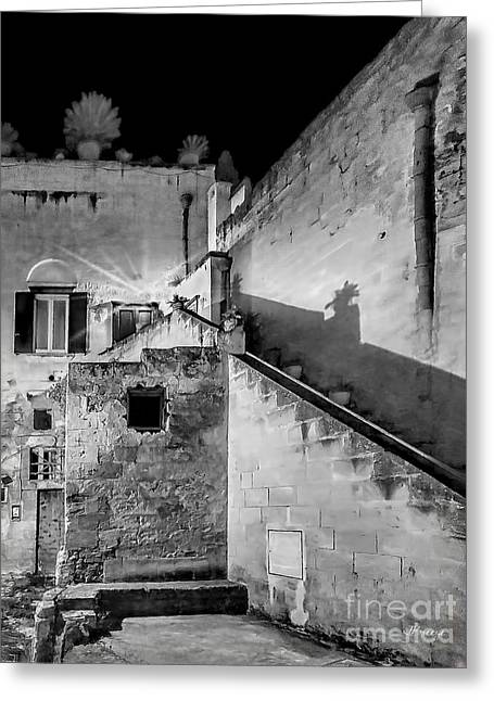 Southern Province Greeting Cards - Shadows in Matera.Italy Greeting Card by Jennie Breeze