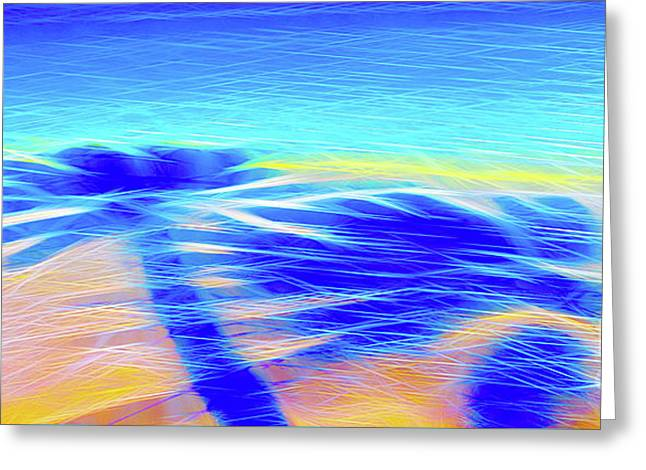 Shadows In The Surf Greeting Card by Jerome Stumphauzer
