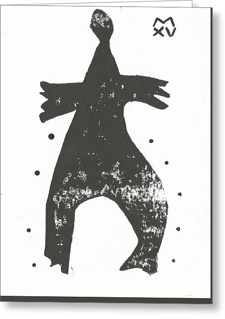 Outsider Art Greeting Cards - SHADOWS No. 2  Greeting Card by Mark M  Mellon