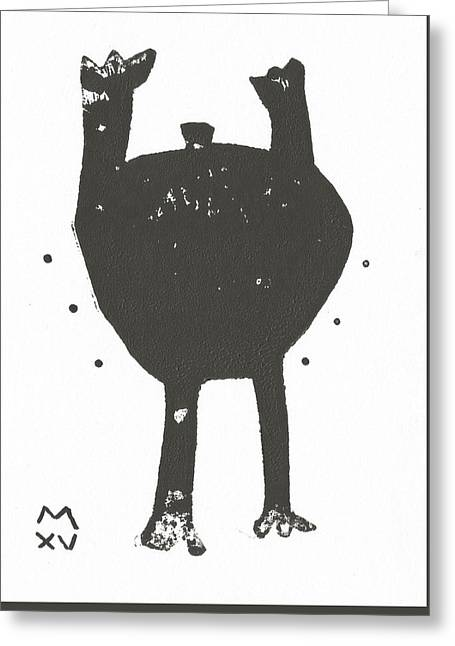 Outsider Art Greeting Cards - Shadows No. 3  Greeting Card by Mark M  Mellon