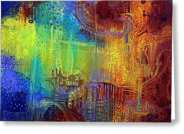 Shadows Of The Dream II Greeting Card by Lolita Bronzini
