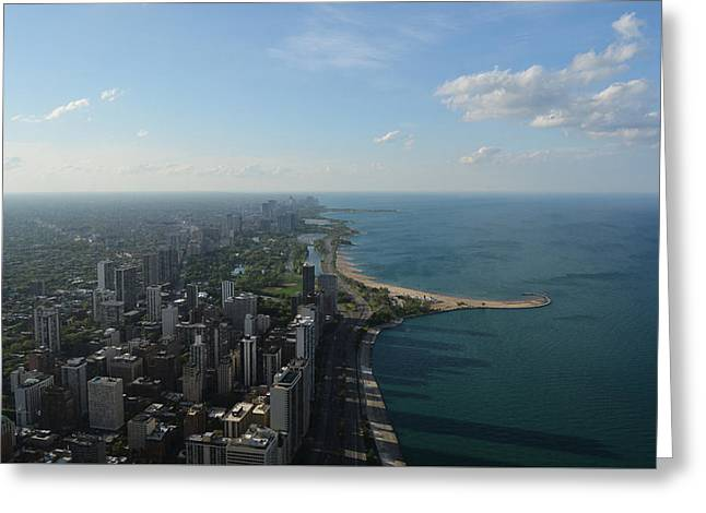 Scenic Drive Greeting Cards - Shadows on Lake Michigan Greeting Card by Richard Andrews